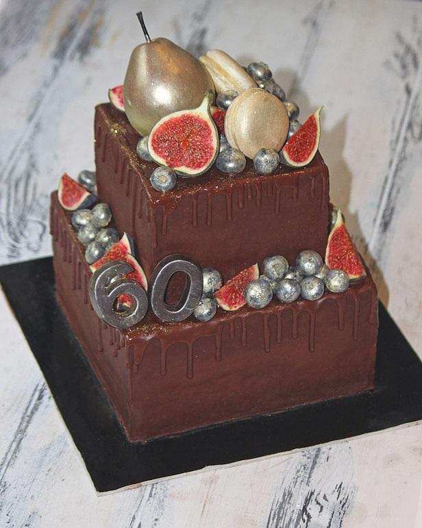 Торт квадратный для мужчины 019