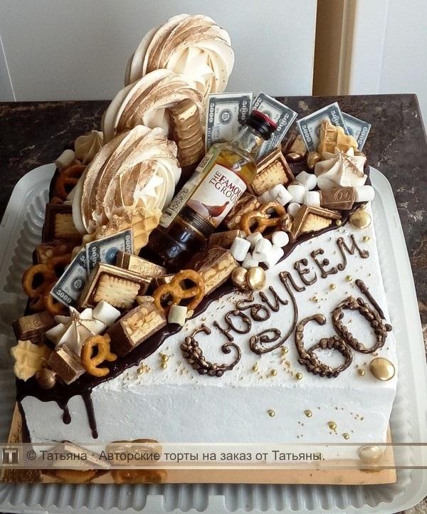 Торт квадратный для мужчины 021