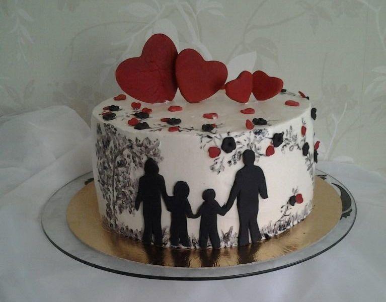 Торт на тему семья 001
