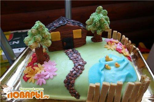 Торт на тему семья 003
