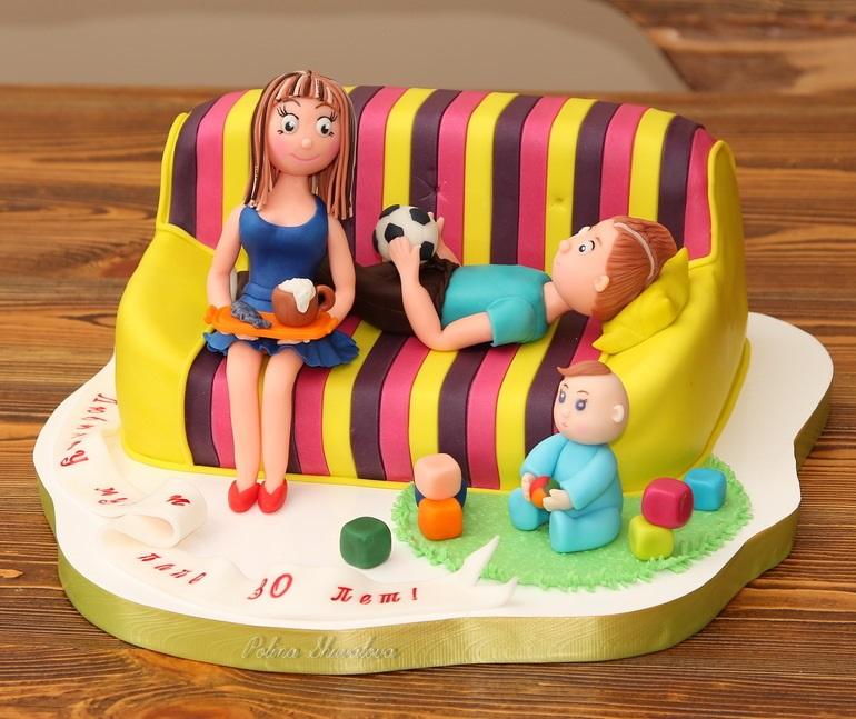 Торт на тему семья 004
