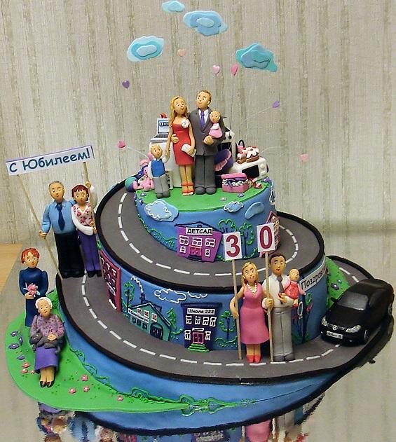 Торт на тему семья 022