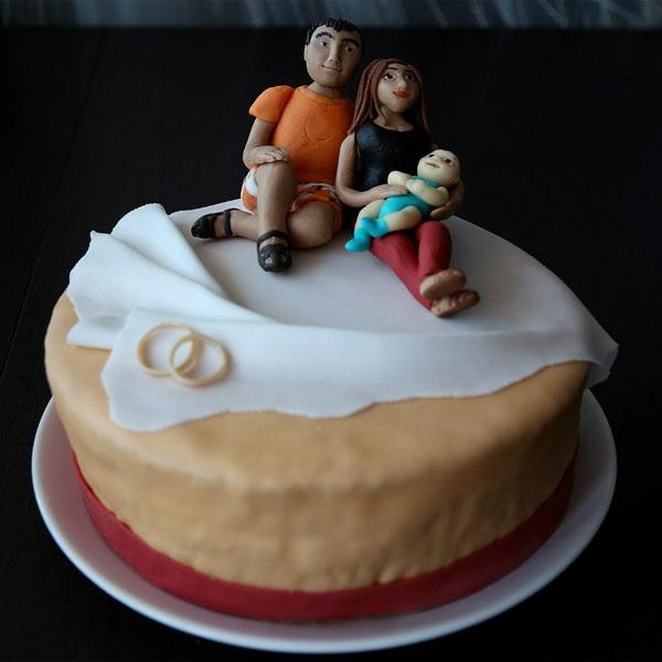 Торт на тему семья 025