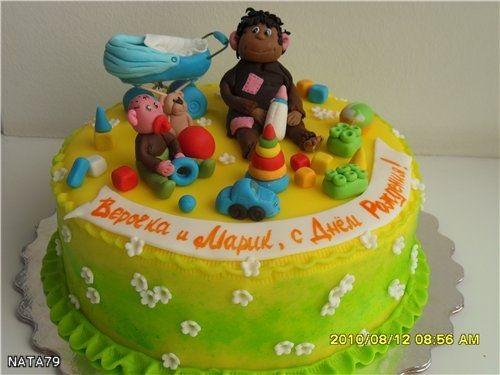 Торт обезьянки из мультика 001