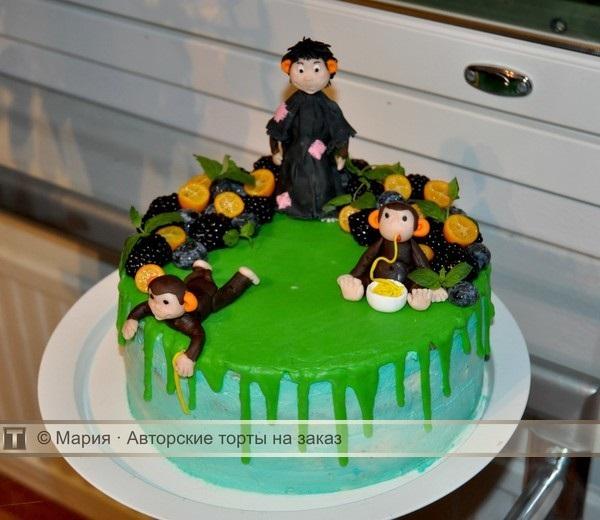 Торт обезьянки из мультика 002