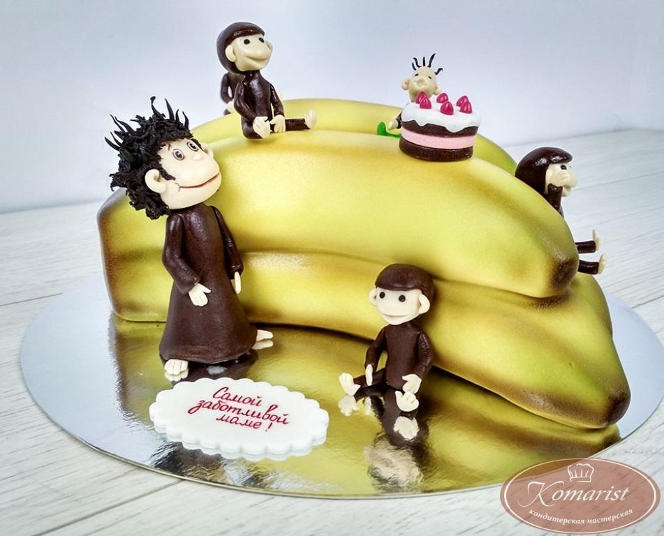 Торт обезьянки из мультика 003