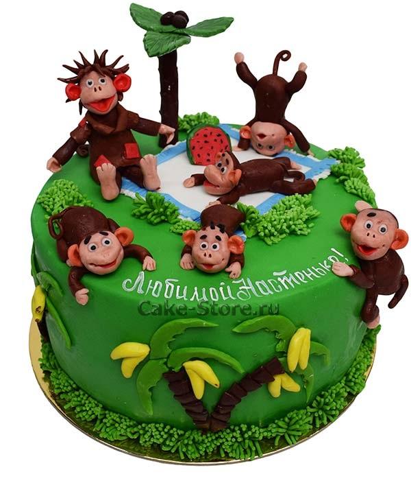 Торт обезьянки из мультика 004
