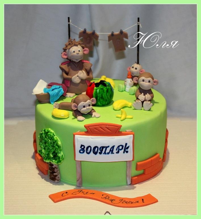 Торт обезьянки из мультика 008