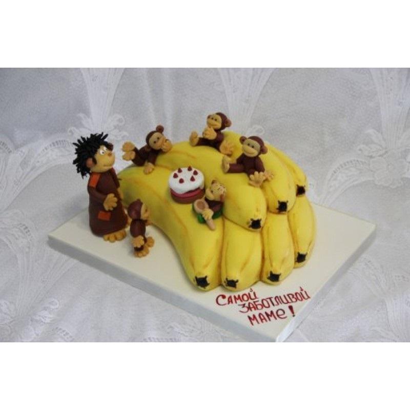 Торт обезьянки из мультика 009