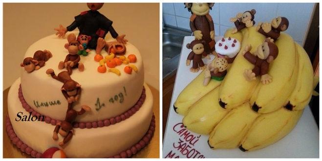 Торт обезьянки из мультика 011