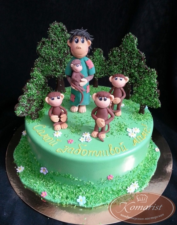 Торт обезьянки из мультика 012