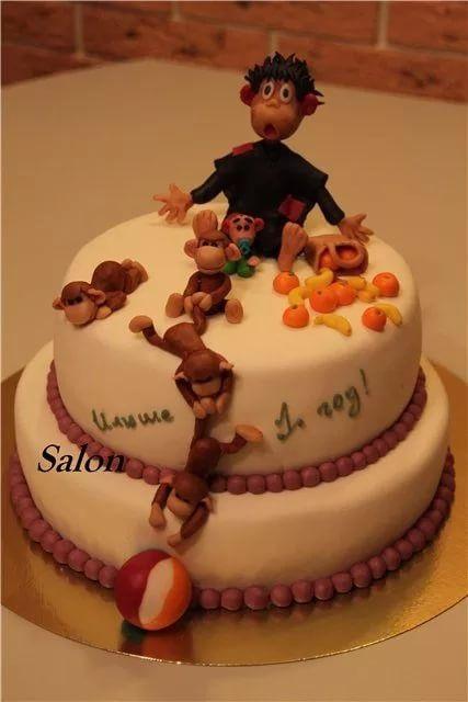 Торт обезьянки из мультика 013