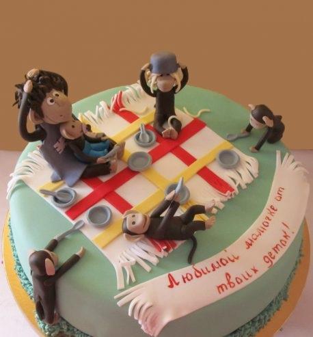 Торт обезьянки из мультика 014