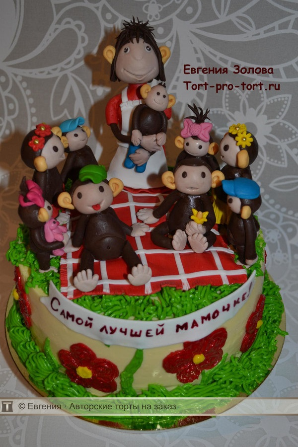 Торт обезьянки из мультика 016