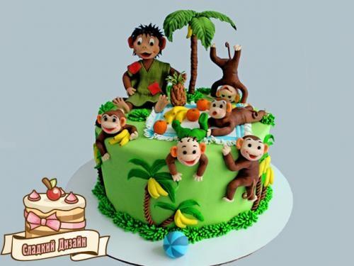 Торт обезьянки из мультика 018