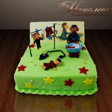 Торт обезьянки из мультика 019