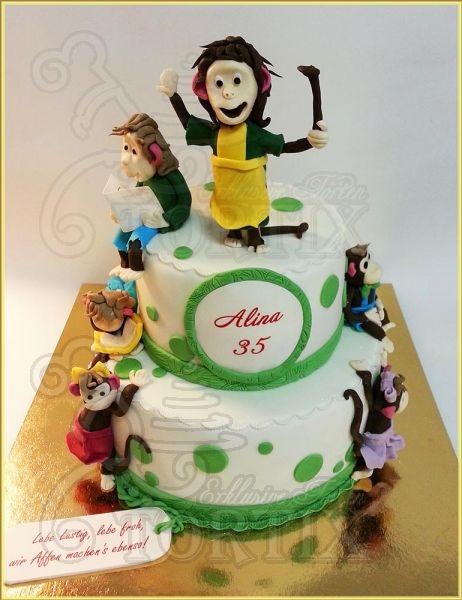 Торт обезьянки из мультика 020