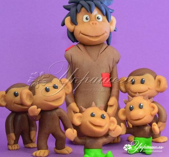 Торт обезьянки из мультика 021