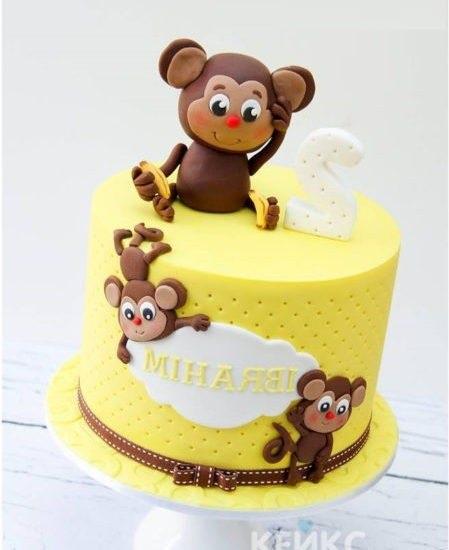 Торт обезьянки из мультика 022