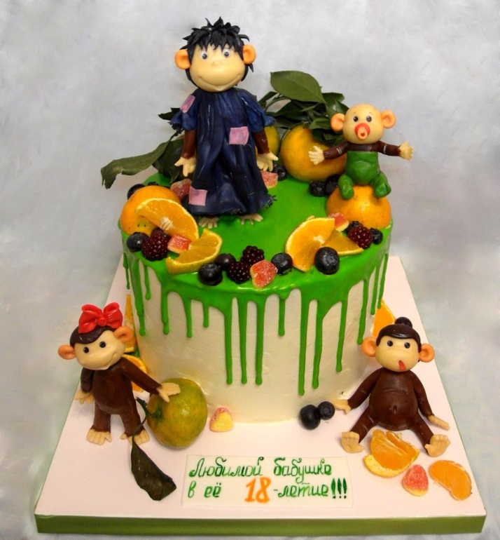 Торт обезьянки из мультика 023