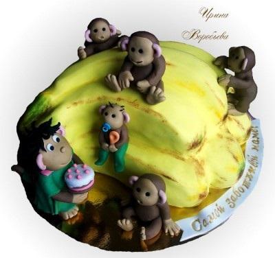 Торт обезьянки из мультика 024