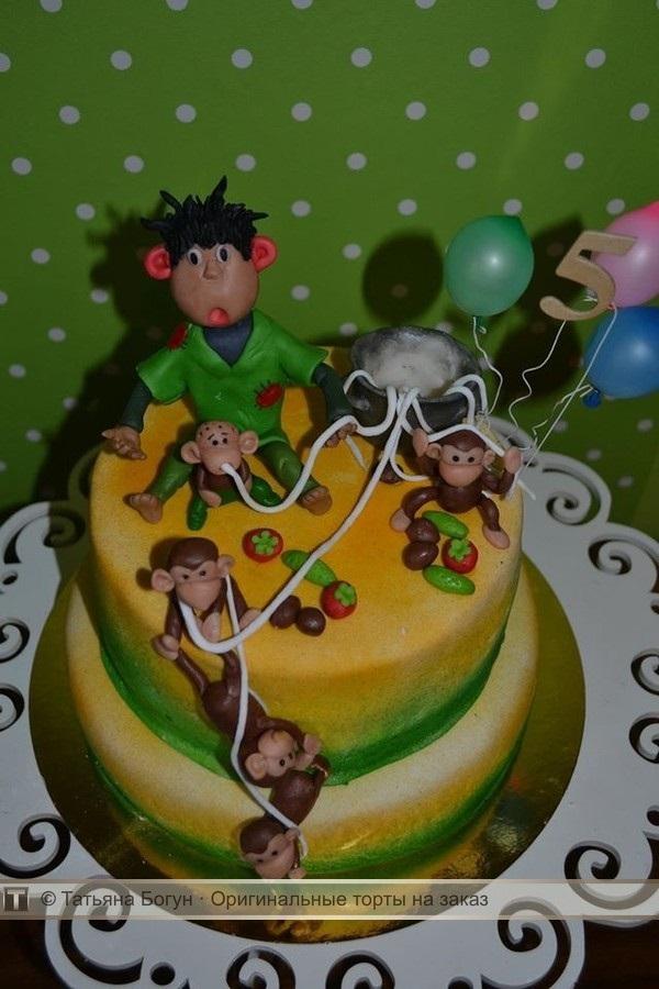 Торт обезьянки из мультика 025