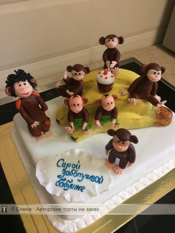 Торт обезьянки из мультика 026