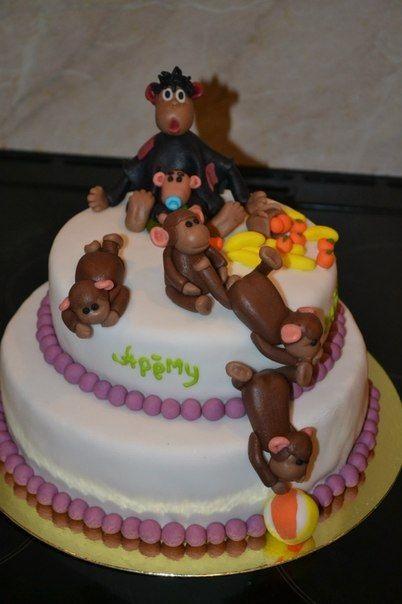 Торт обезьянки из мультика 028