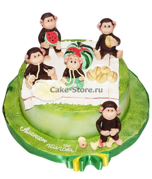 Торт обезьянки из мультика 029