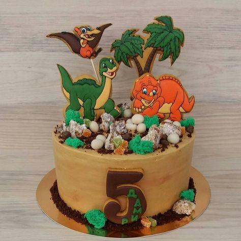 Фото тортик с динозаврами 001
