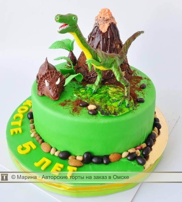 Фото тортик с динозаврами 002