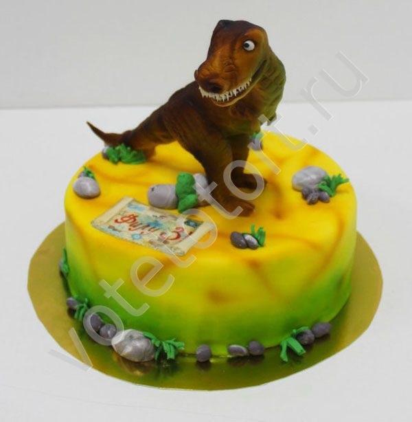 Фото тортик с динозаврами 003
