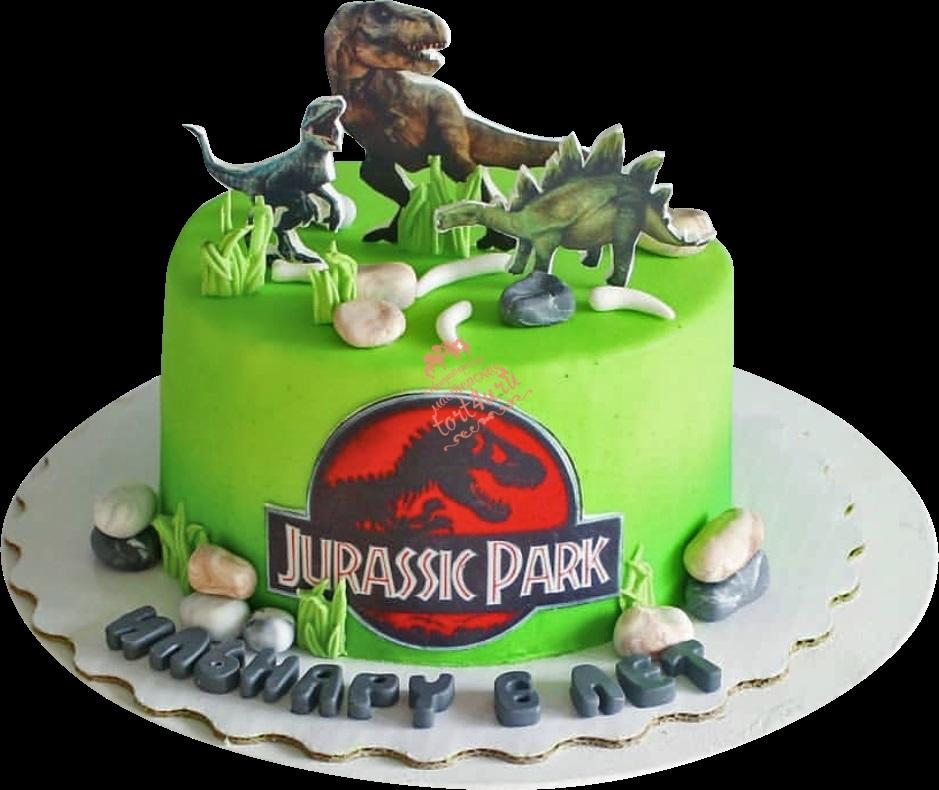 Фото тортик с динозаврами 005