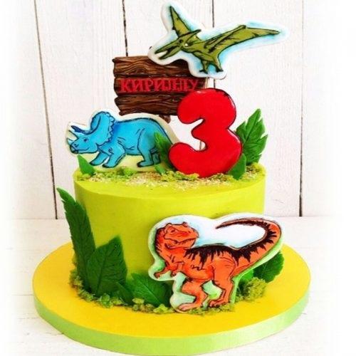 Фото тортик с динозаврами 006
