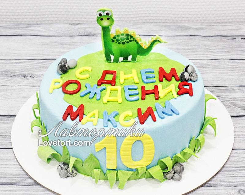 Фото тортик с динозаврами 008