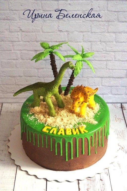 Фото тортик с динозаврами 009