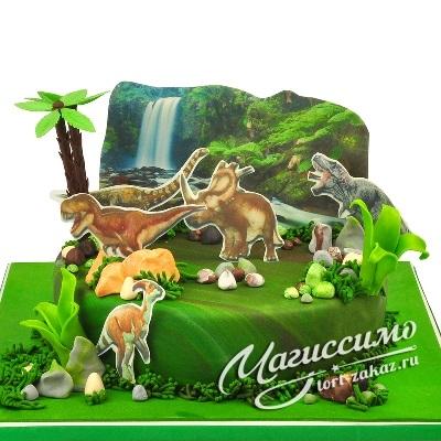Фото тортик с динозаврами 011