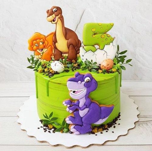 Фото тортик с динозаврами 013