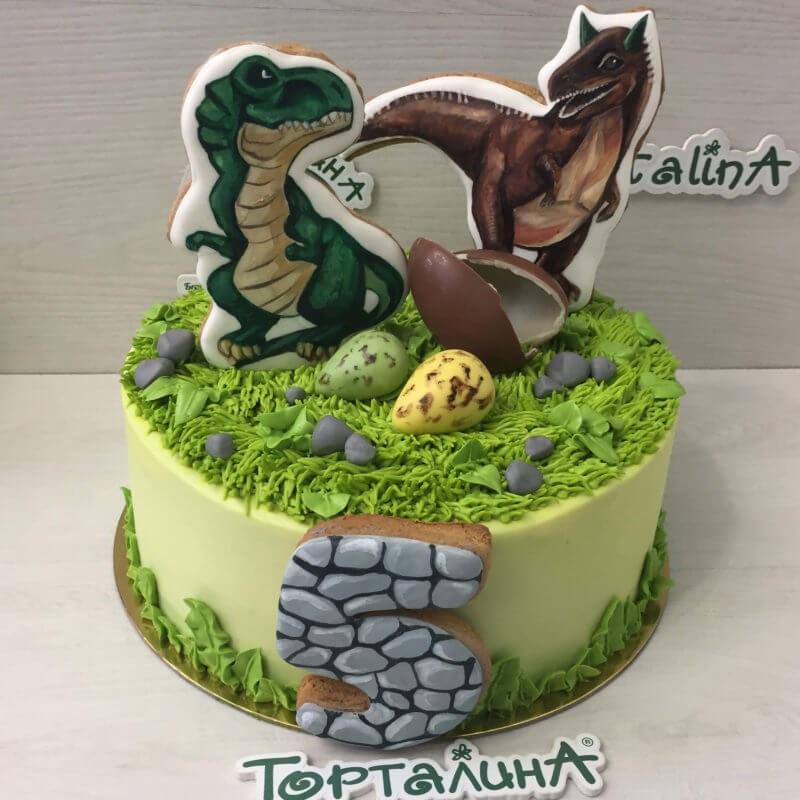 Фото тортик с динозаврами 014