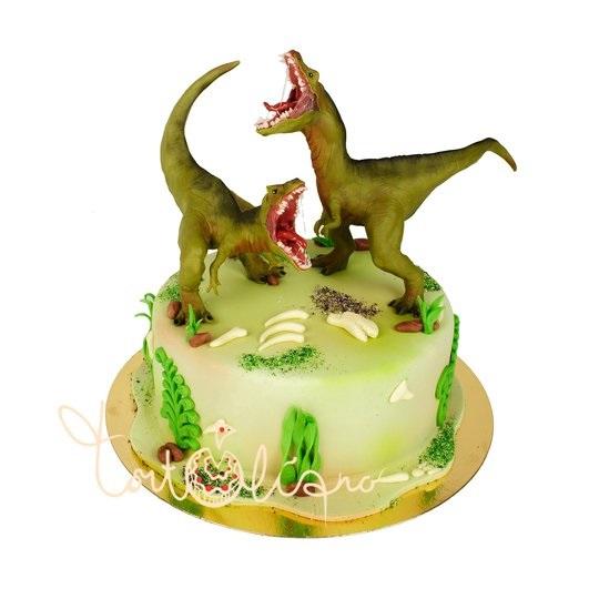 Фото тортик с динозаврами 017