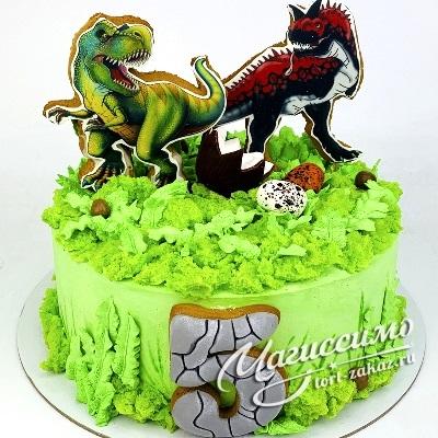 Фото тортик с динозаврами 019