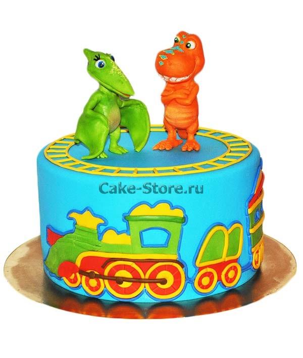 Фото тортик с динозаврами 020