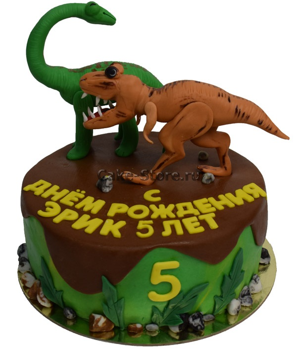 Фото тортик с динозаврами 021