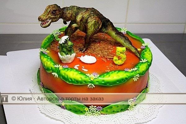 Фото тортик с динозаврами 024
