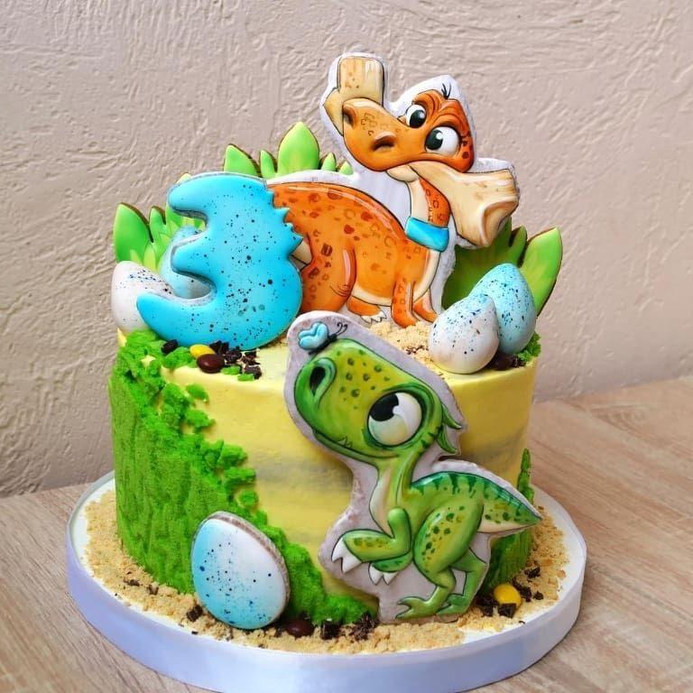 Фото тортик с динозаврами 026