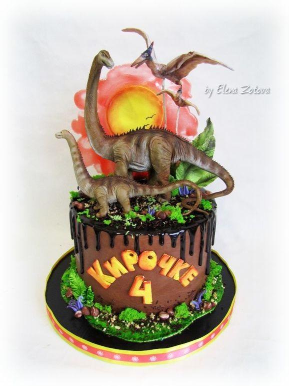 Фото тортик с динозаврами 028