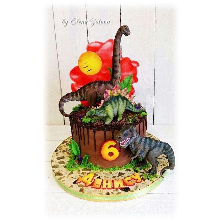 Фото тортик с динозаврами 029