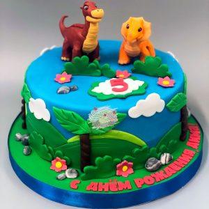 Фото тортик с динозаврами 030