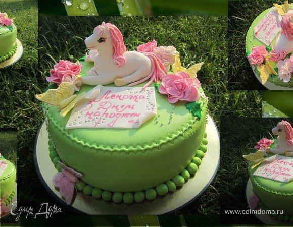 Фото торт с лошадками 001