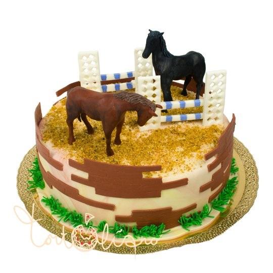 Фото торт с лошадками 005